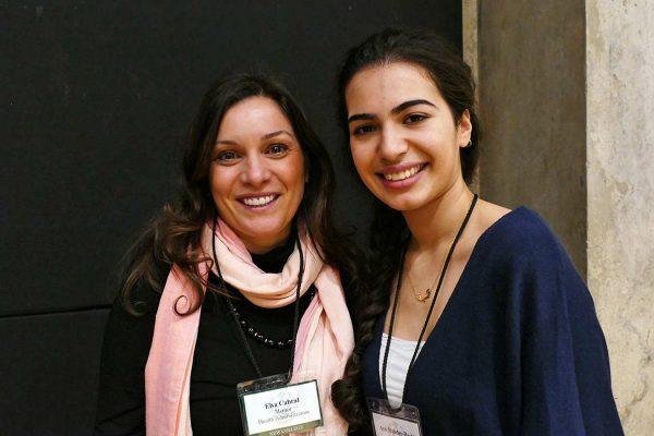 Elsa Cabral and Aya Mahder Bashi.